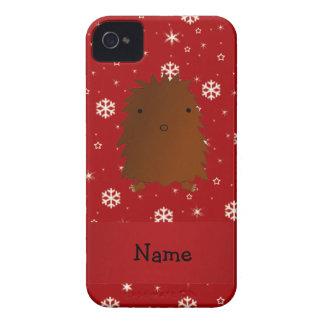 Copos de nieve conocidos personalizados del rojo iPhone 4 fundas