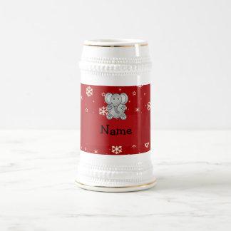 Copos de nieve conocidos personalizados del rojo jarra de cerveza