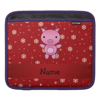 Copos de nieve conocidos personalizados del rojo manga de iPad
