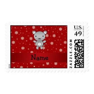 Copos de nieve conocidos personalizados del rojo envio