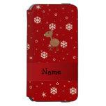 Copos de nieve conocidos personalizados del rojo funda cartera para iPhone 6 watson