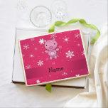 Copos de nieve conocidos personalizados del rosa