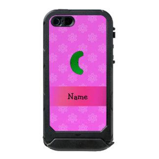 Copos de nieve conocidos personalizados del rosa carcasa de iphone 5 incipio atlas id