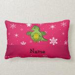 Copos de nieve conocidos personalizados del rosa almohada