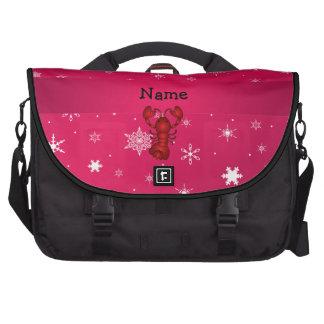Copos de nieve conocidos personalizados del rosa d bolsas para ordenador
