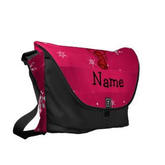 Copos de nieve conocidos personalizados del rosa d bolsas messenger