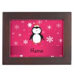 Copos de nieve conocidos personalizados del rosa d cajas de recuerdos
