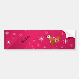 Copos de nieve conocidos personalizados del rosa d pegatina de parachoque