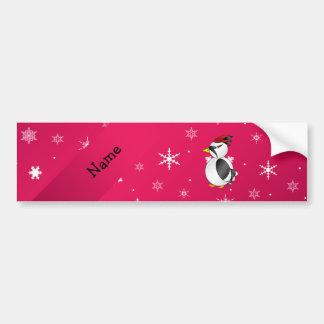 Copos de nieve conocidos personalizados del rosa d etiqueta de parachoque