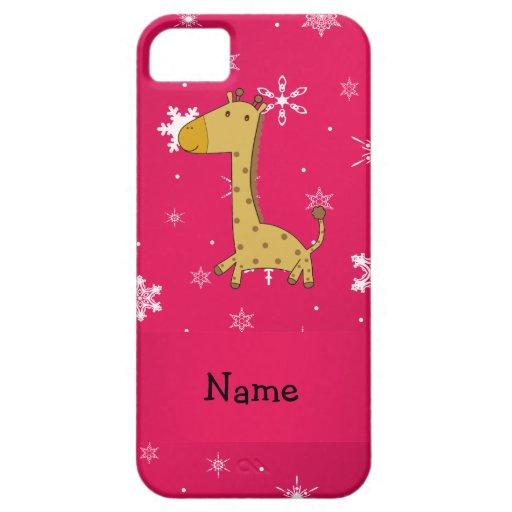 Copos de nieve conocidos personalizados del rosa d iPhone 5 Case-Mate cárcasas