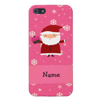 Copos de nieve conocidos personalizados del rosa d iPhone 5 cobertura