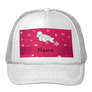 Copos de nieve conocidos personalizados del rosa d gorras