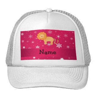 Copos de nieve conocidos personalizados del rosa d gorra