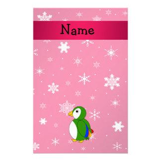 Copos de nieve conocidos personalizados del rosa d  papeleria