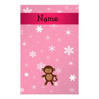 Copos de nieve conocidos personalizados del rosa d papeleria personalizada