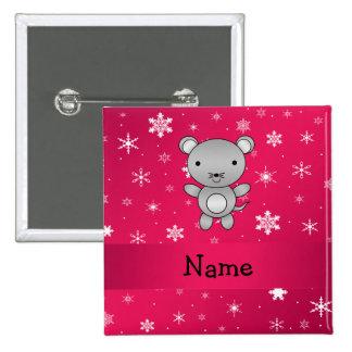 Copos de nieve conocidos personalizados del rosa d pins