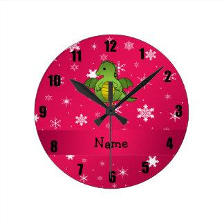 Copos de nieve conocidos personalizados del rosa d relojes