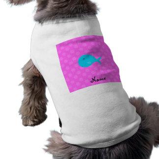 Copos de nieve conocidos personalizados del rosa d playera sin mangas para perro