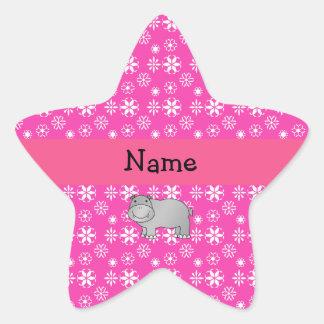Copos de nieve conocidos personalizados del rosa d calcomania forma de estrella