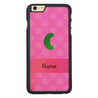 Copos de nieve conocidos personalizados del rosa funda de arce carved® para iPhone 6 plus slim