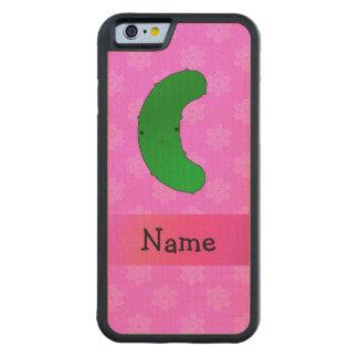 Copos de nieve conocidos personalizados del rosa funda de iPhone 6 bumper arce
