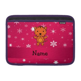 Copos de nieve conocidos personalizados del rosa funda  MacBook
