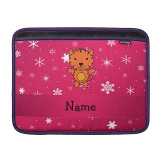 Copos de nieve conocidos personalizados del rosa funda macbook air