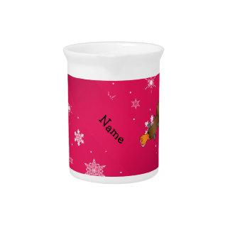 Copos de nieve conocidos personalizados del rosa jarrones
