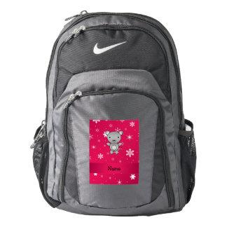 Copos de nieve conocidos personalizados del rosa mochila