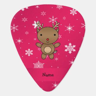 Copos de nieve conocidos personalizados del rosa plumilla de guitarra