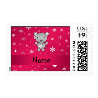 Copos de nieve conocidos personalizados del rosa envio
