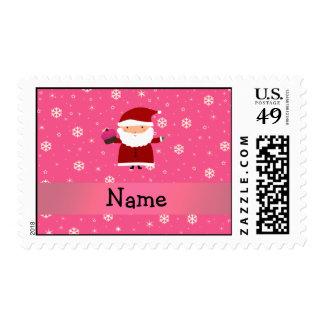 Copos de nieve conocidos personalizados del rosa sello