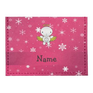 Copos de nieve conocidos personalizados del rosa tarjeteros tyvek®