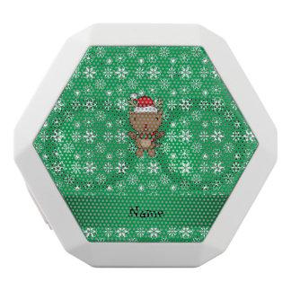Copos de nieve conocidos personalizados del verde altavoces bluetooth blancos boombot REX