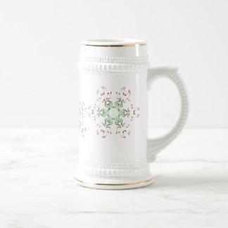 Copos de nieve cristalinos musicales taza de café