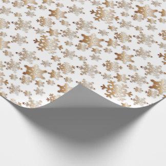 Copos de nieve de cobre con el papel de embalaje papel de regalo