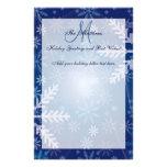 Copos de nieve de encargo de la letra de la famili papeleria de diseño
