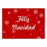 Copos de nieve de Feliz Navidad Tarjeta De Felicitación