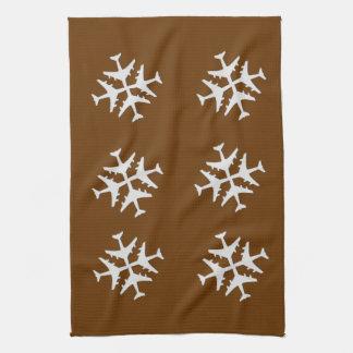 Copos de nieve de la cocina toalla de cocina
