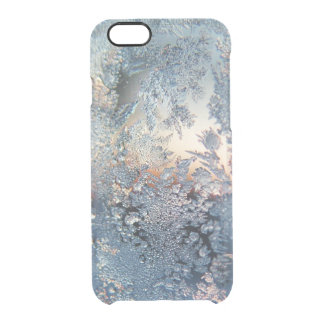 Copos de nieve de la helada del invierno bling funda clear para iPhone 6/6S