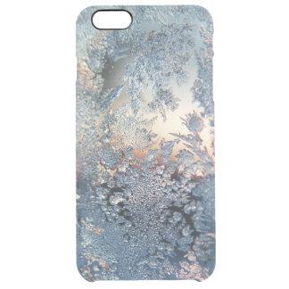 Copos de nieve de la helada del invierno bling funda clear para iPhone 6 plus