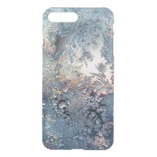 Copos de nieve de la helada del invierno bling fundas para iPhone 7 plus