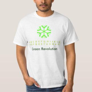 Copos de nieve de la revolución verde playeras
