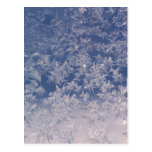 Copos de nieve de la ventana postal