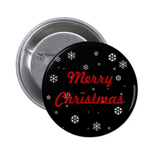 Copos de nieve de las Felices Navidad Pin Redondo 5 Cm