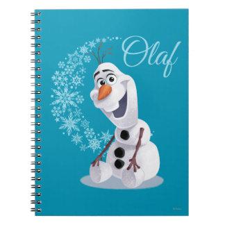 Copos de nieve de Olaf Libretas Espirales