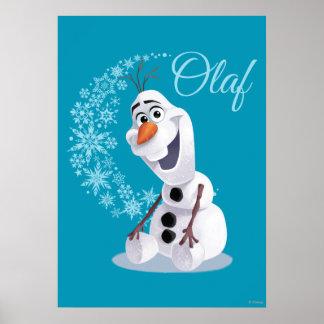 Copos de nieve de Olaf Póster