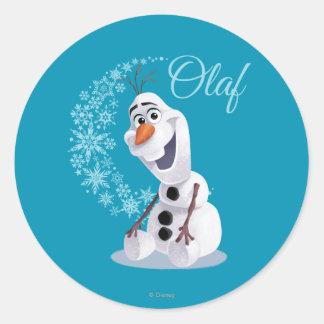 Copos de nieve de Olaf Pegatina Redonda