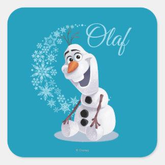 Copos de nieve de Olaf Pegatina Cuadrada