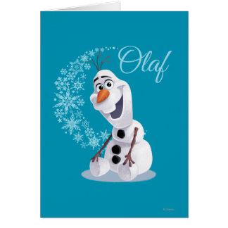 Copos de nieve de Olaf Tarjeta De Felicitación